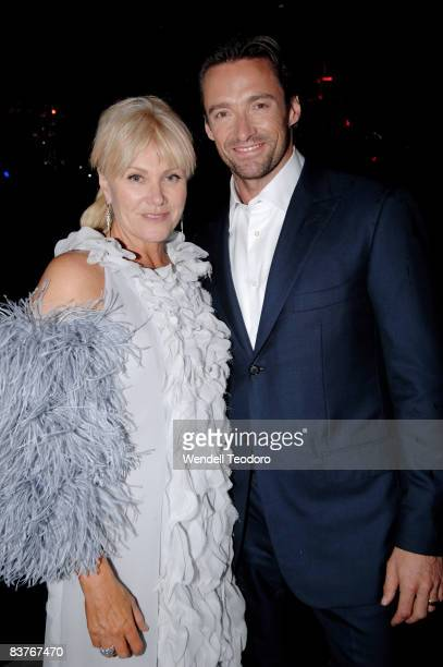 Actress Deborah LeeFurnace and Actor Hugh Jackman attends the official after party for 'Australia' at the Ivy on November 18 2008 in Sydney Australia