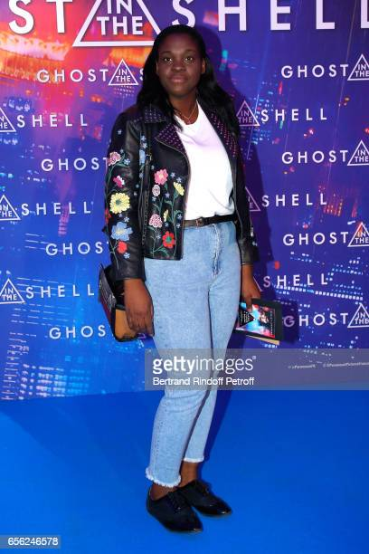 Actress Deborah Lukumuena atten the Paris Premiere of the Paramount Pictures release 'Ghost in the Shell' Held at Le Grand Rex on March 21 2017 in...