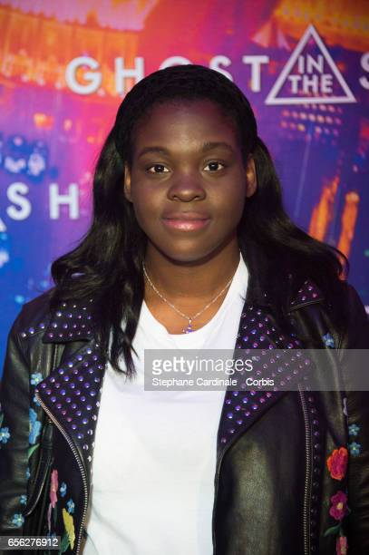 Actress Deborah Lukumuena attends the Paris Premiere of the Paramount Pictures release 'Ghost In The Shell' at Le Grand Rex on March 21 2017 in Paris...