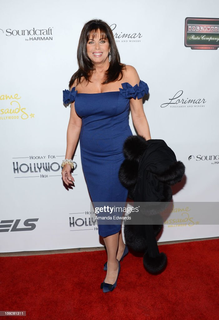 Actress Deborah Shelton arrives at the Hooray For Hollywood...High Gala at the El Capitan Theatre on January 10, 2013 in Hollywood, California.