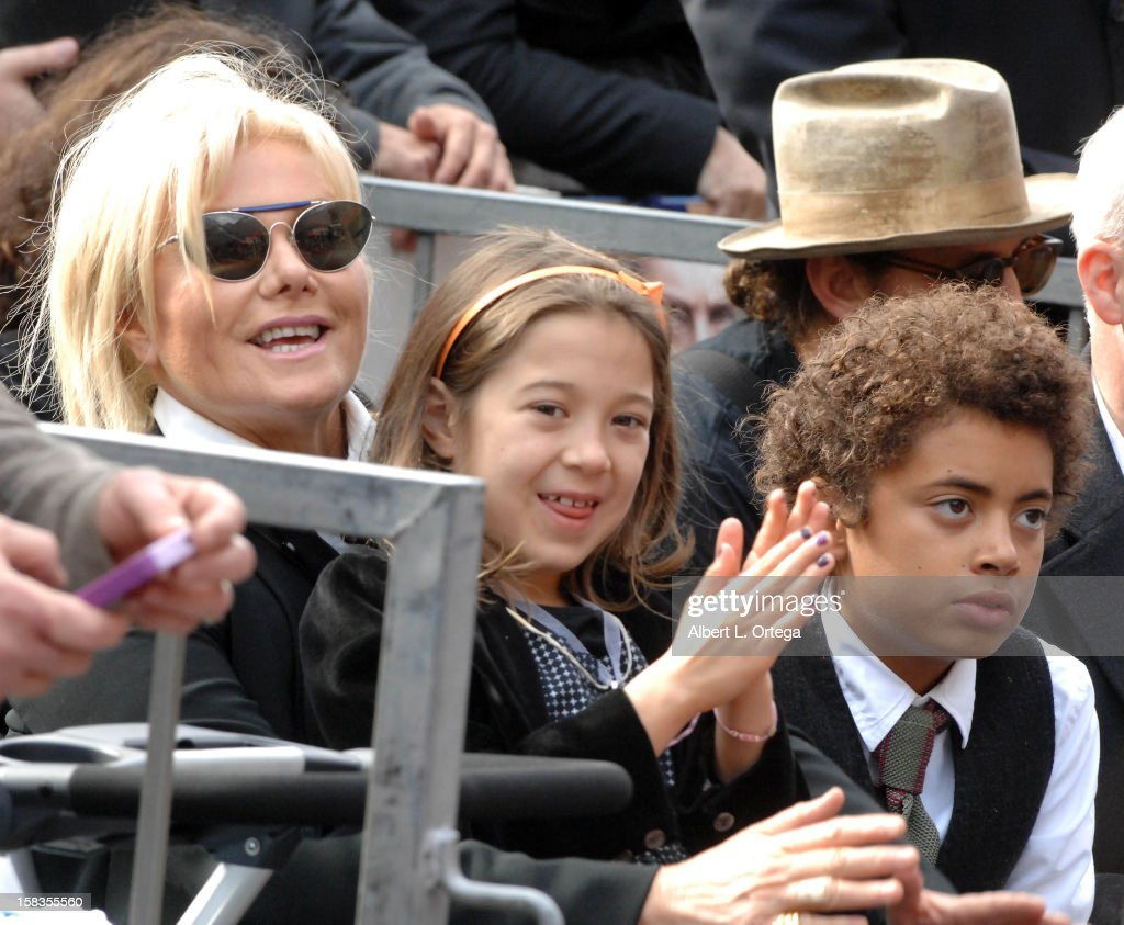 Actress Deborra-Lee Furness and children Ava and Oscar participate in the Hugh Jackman Star ceremony at The Hollywood Walk Of Fame on December 13, 2012 in Hollywood, California.