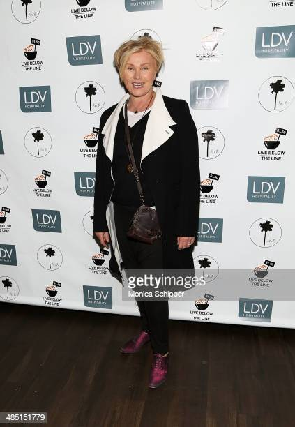 Actress DeborraLee Furness attends Live Below The Line 2014 at No 8 on April 16 2014 in New York City
