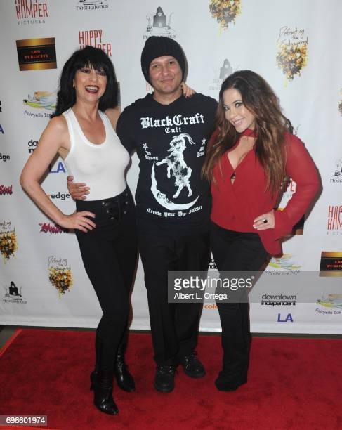 Actress Debra Lamb director Neil D'Monte and actress Brooke Lewis arrive for the Premiere Of 'Front Men' And 'Like Them' held at The Downtown...