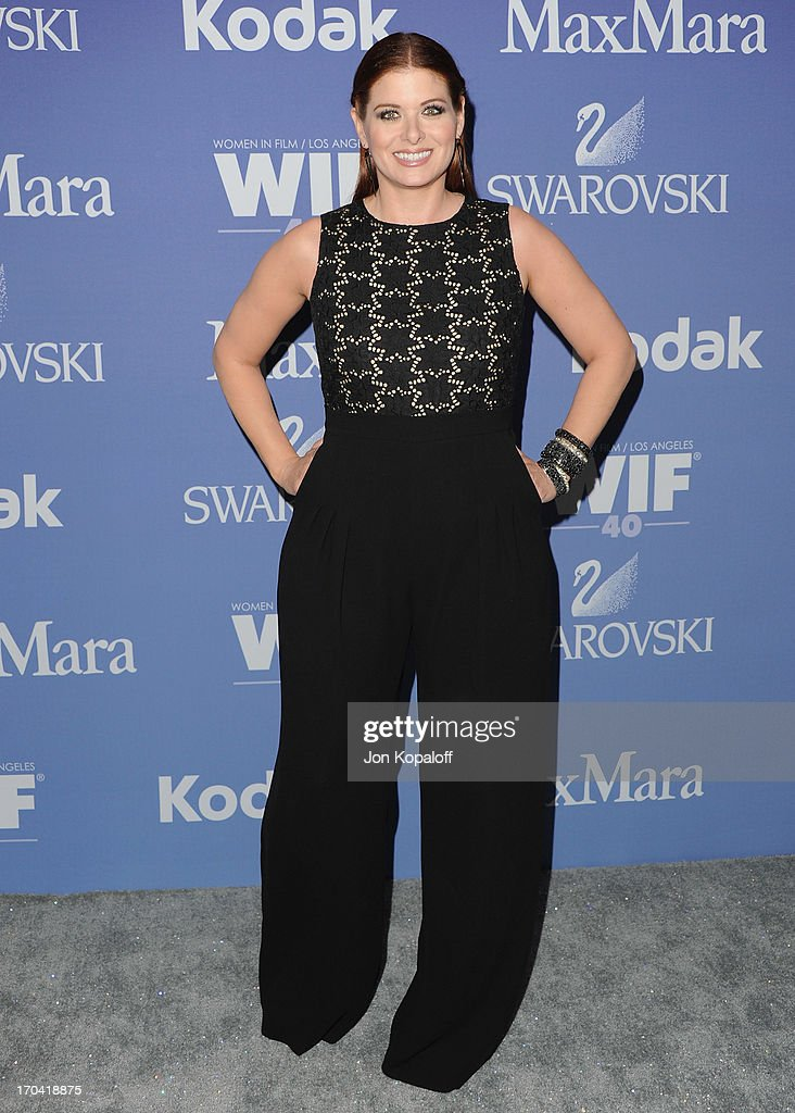 Actress <a gi-track='captionPersonalityLinkClicked' href=/galleries/search?phrase=Debra+Messing&family=editorial&specificpeople=202114 ng-click='$event.stopPropagation()'>Debra Messing</a> arrives at the 2013 Women In Film's Crystal + Lucy Awards at The Beverly Hilton Hotel on June 12, 2013 in Beverly Hills, California.