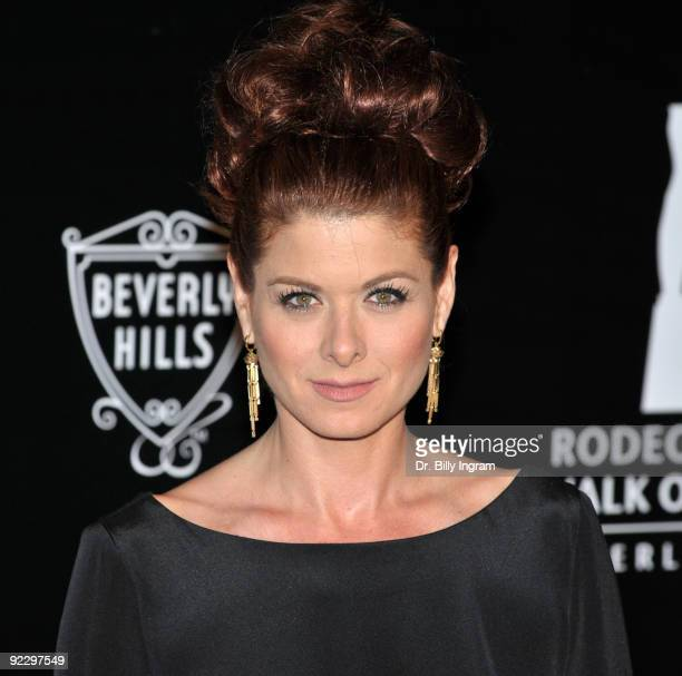 Actress Debra Messing arrives at the celebration of the City of Beverly Hills Rodeo Drive Committee to Honor Princess Grace on October 22 2009 in...