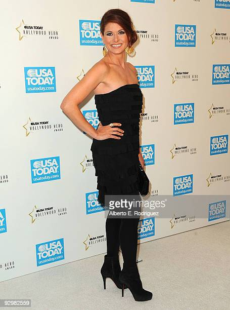 Actress Debra Messing arrives at the USA Today's 4th Annual Hollywood Hero Award Gala honoring Ashley Judd on November 10 2009 in Beverly Hills...