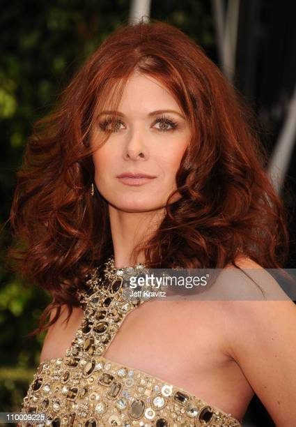 Actress Debra Messing arrives to the 14th Annual Screen Actors Guild Awards at the Shrine Auditorium on January 27 2008 in Los Angeles California