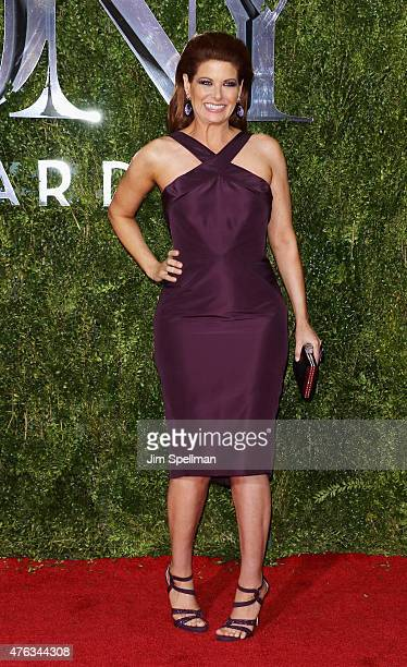 Actress Debra Messing attends American Theatre Wing's 69th Annual Tony Awards at Radio City Music Hall on June 7 2015 in New York City
