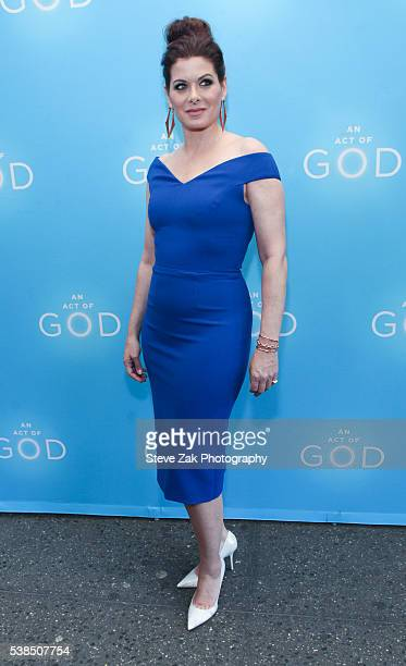 Actress Debra Messing attends 'An Act Of God' opening night at Booth Theatre on June 6 2016 in New York City