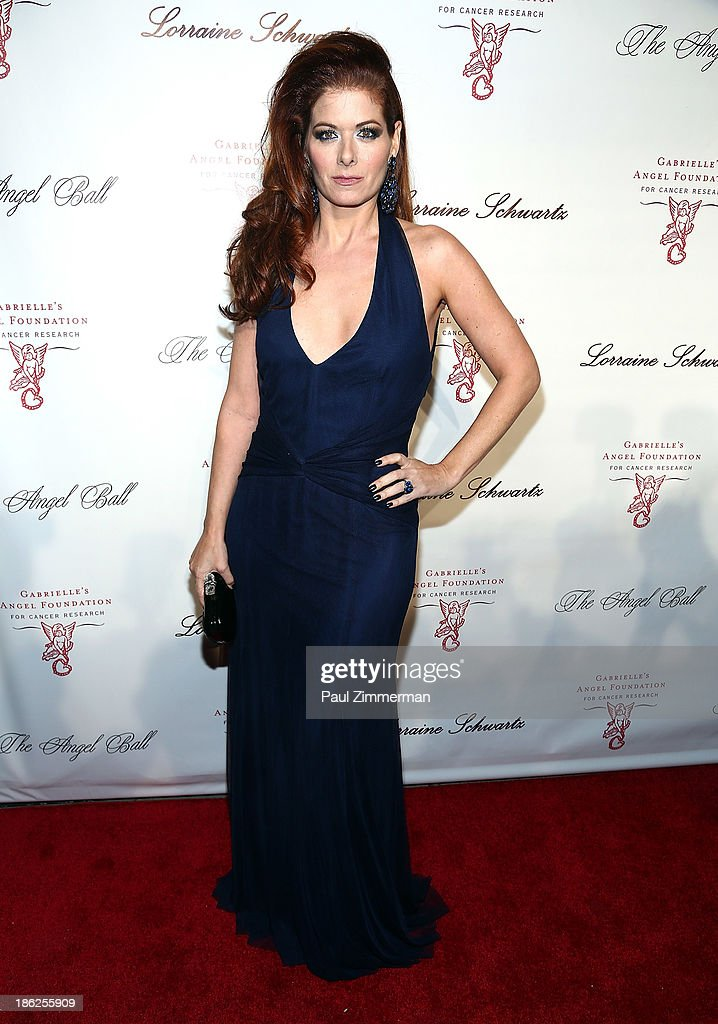 Actress <a gi-track='captionPersonalityLinkClicked' href=/galleries/search?phrase=Debra+Messing&family=editorial&specificpeople=202114 ng-click='$event.stopPropagation()'>Debra Messing</a> attends Angel Ball 2013 at Cipriani Wall Street on October 29, 2013 in New York City.