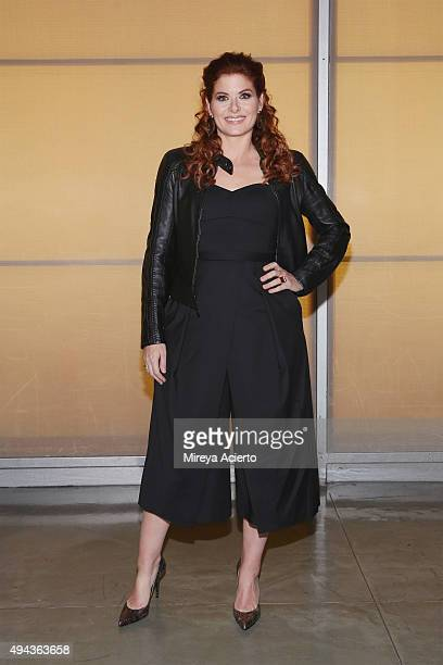 Actress Debra Messing attends 'Bridging the Gap and Other Short Plays by Wesley Taylor' benefit reading at New World Stages on October 26 2015 in New...