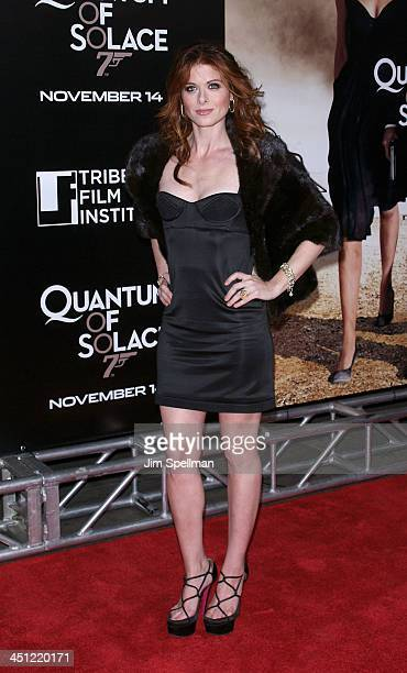 Actress Debra Messing attends the 2008 Tribeca Film Institute Fall Benefit screening of Quantum of Solace at the AMC Lincoln Square theatre on...