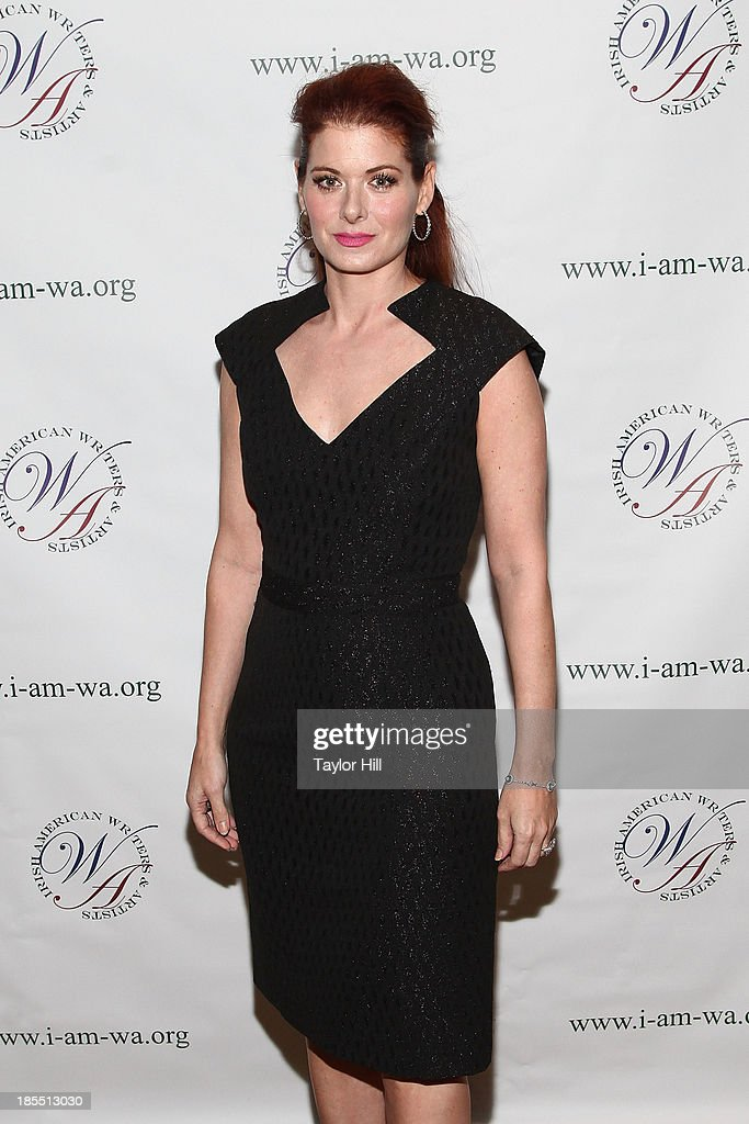 Actress Debra Messing attends the 2013 Eugene O'Neill Lifetime Achievement Award gala at The Manhattan Club at Rosie O'Grady's on October 21, 2013 in New York City.