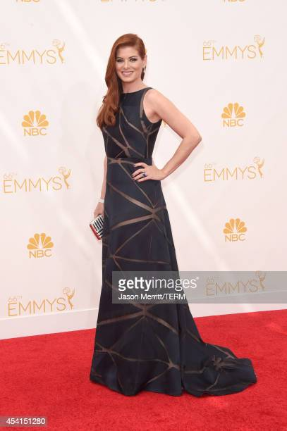 Actress Debra Messing attends the 66th Annual Primetime Emmy Awards held at Nokia Theatre LA Live on August 25 2014 in Los Angeles California