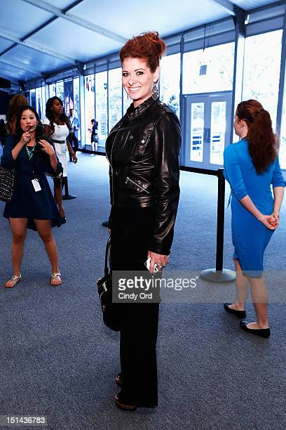 Actress Debra Messing attends the CZAR By Cesar Galindo Spring 2013 fashion show during MercedesBenz Fashion Week at The Studio at Lincoln Center on...