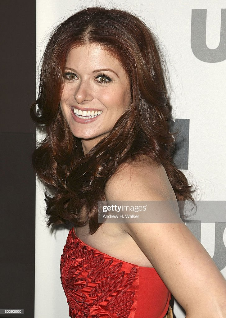 Actress Debra Messing attends the USA Network Upfront at The Modern on March 26, 2008 in New York City.