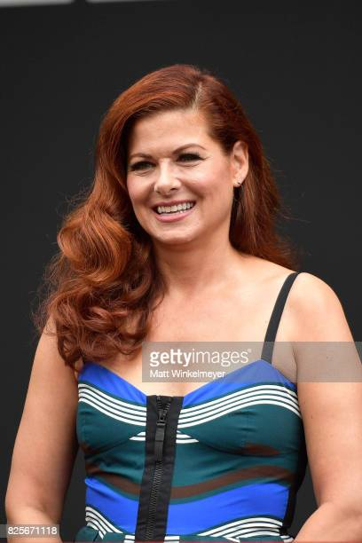 Actress Debra Messing attends the 'Will Grace' ribbon cutting Ceremony on August 2 2017 in Los Angeles California