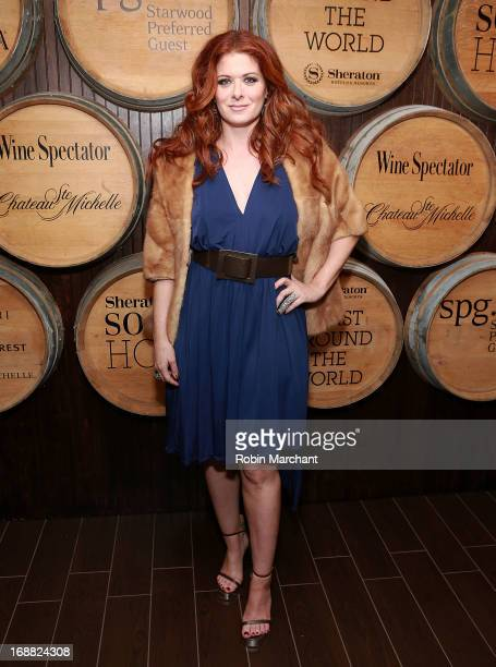Actress Debra Messing attends 'Toast Around The World' Celebration at New York Sheraton Hotel Tower on May 15 2013 in New York City