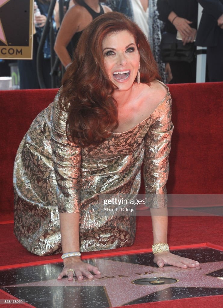 Actress Debra Messing is honored with a star on the Hollywood Walk of Fame on October 6, 2017 in Hollywood, California.