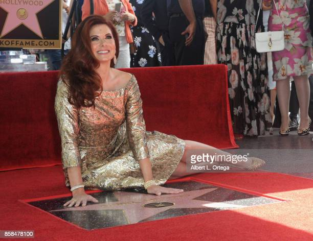 Actress Debra Messing is honored with a star on the Hollywood Walk of Fame on October 6 2017 in Hollywood California