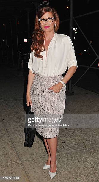 Actress Debra Messing is seen on July 6 2015 in New York City