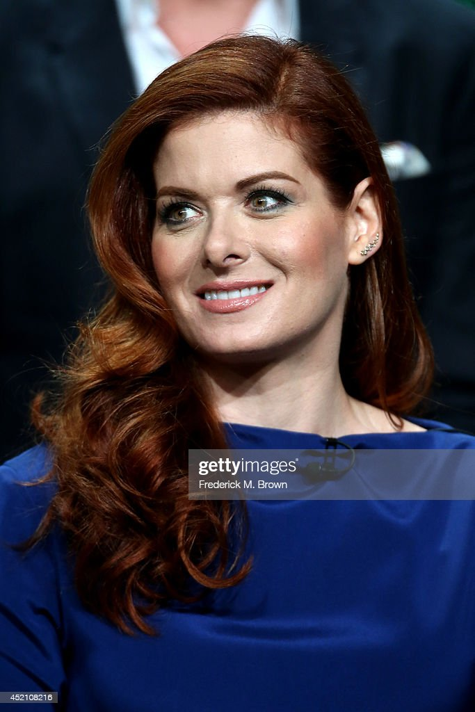 Actress Debra Messing speaks onstage at the 'The Mysteries of Laura' panel during the NBCUniversal portion of the 2014 Summer Television Critics Association at The Beverly Hilton Hotel on July 13, 2014 in Beverly Hills, California.