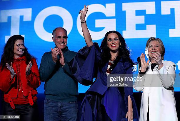 Actress Debra Messing US Sen Bob Casey recording artist Katy Perry and Democratic presidential nominee former Secretary of State Hillary Clinton...