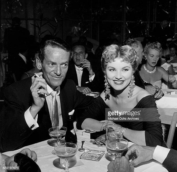 Actress Debra Paget and escort attend an event at Ciro's in Los AngelesCA