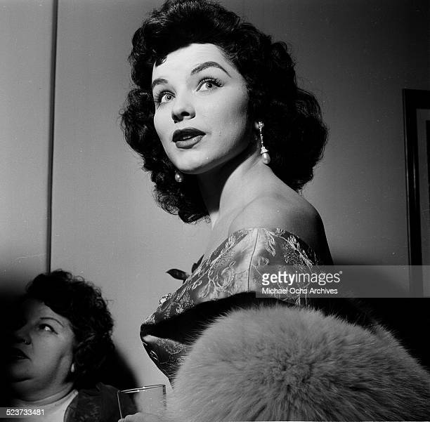 Actress Debra Paget attends an event in Los AngelesCA