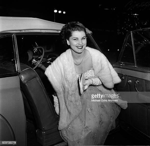 Actress Debra Paget attends the movie premiere of 'Fixed Bayonets' in Los AngelesCA