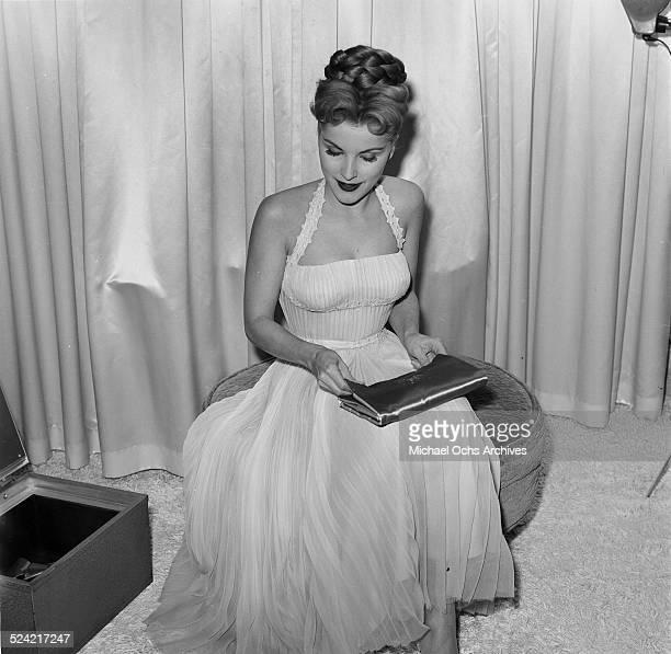 Actress Debra Paget poses in Los AngelesCA