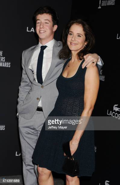 Actress Debra Winger and son Babe Howard arrive at the 16th Costume Designers Guild Awards at The Beverly Hilton Hotel on February 22 2014 in Beverly...