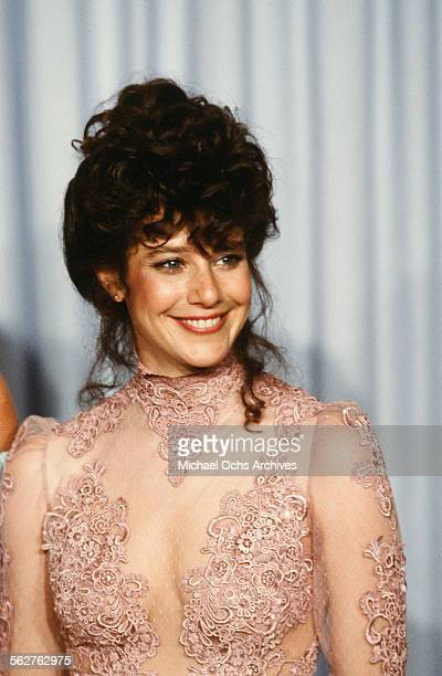 Actress Debra Winger poses backstage during the 54th Academy Awards at Dorothy Chandler Pavilion in Los AngelesCalifornia