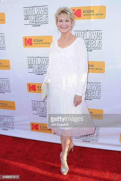 Actress Dee Wallace arrives at the Los Angeles Premiere 'Outlaws And Angels' at Ahrya Fine Arts Movie Theater on July 12 2016 in Beverly Hills...