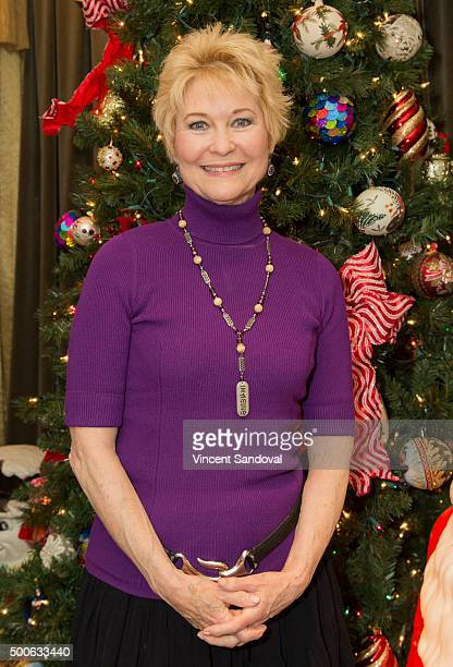 Actress Dee Wallace attends the newly holiday decorated Hollywood Museum during The Dolores Mission School visit at The Hollywood Museum on December...
