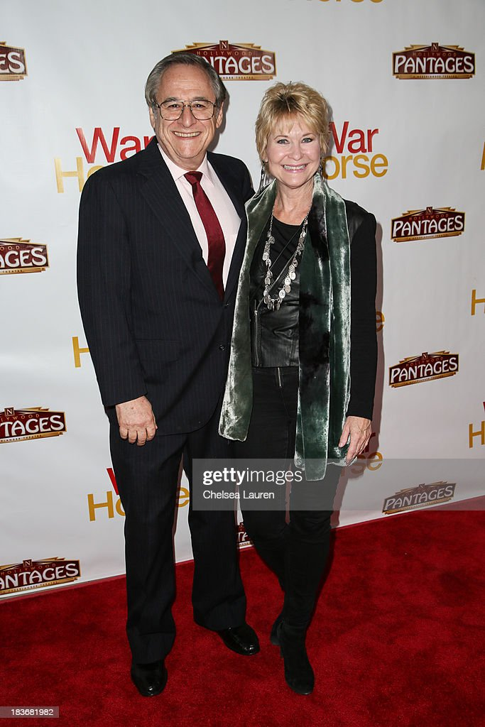 Actress Dee Wallace (R) attends the 'War Horse' red carpet opening night at the Pantages Theatre on October 8, 2013 in Hollywood, California.