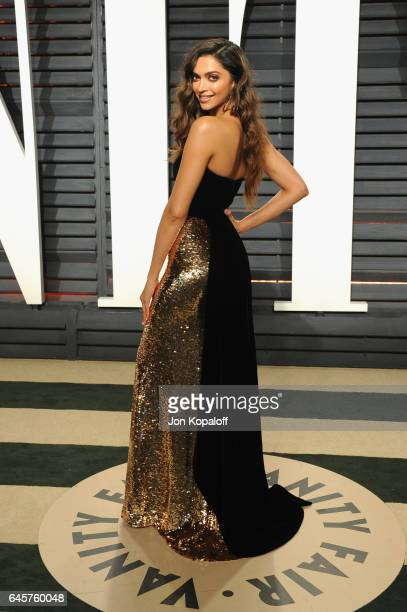 Actress Deepika Padukone attends the 2017 Vanity Fair Oscar Party hosted by Graydon Carter at Wallis Annenberg Center for the Performing Arts on...