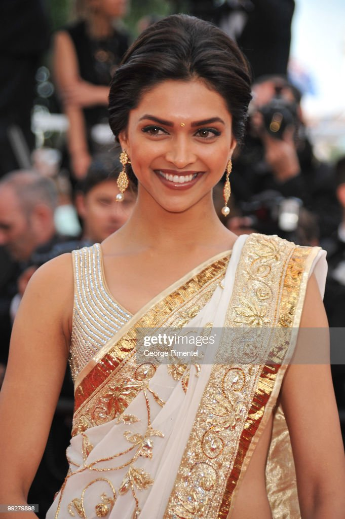 Actress <a gi-track='captionPersonalityLinkClicked' href=/galleries/search?phrase=Deepika+Padukone&family=editorial&specificpeople=869186 ng-click='$event.stopPropagation()'>Deepika Padukone</a> attends the 'On Tour' Premiere at the Palais des Festivals during the 63rd Annual Cannes Film Festival on May 13, 2010 on May 13, 2010 in Cannes, France.