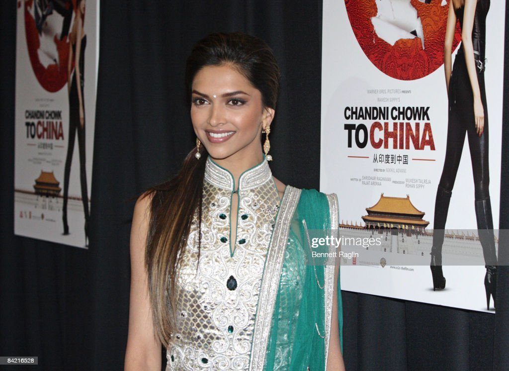 Actress <a gi-track='captionPersonalityLinkClicked' href=/galleries/search?phrase=Deepika+Padukone&family=editorial&specificpeople=869186 ng-click='$event.stopPropagation()'>Deepika Padukone</a> attends the premiere of 'Chandni Chowk to China' at the AMC Empire 25 on January 8, 2009 in New York City.