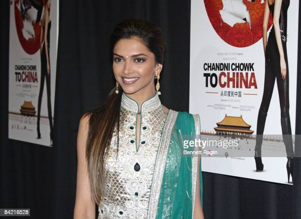 Actress Deepika Padukone attends the premiere of 'Chandni Chowk to China' at the AMC Empire 25 on January 8 2009 in New York City