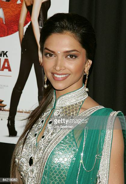 Actress Deepika Padukone attends the premiere of 'Notorious' at the AMC Lincoln Square on January 7 2009 in New York City