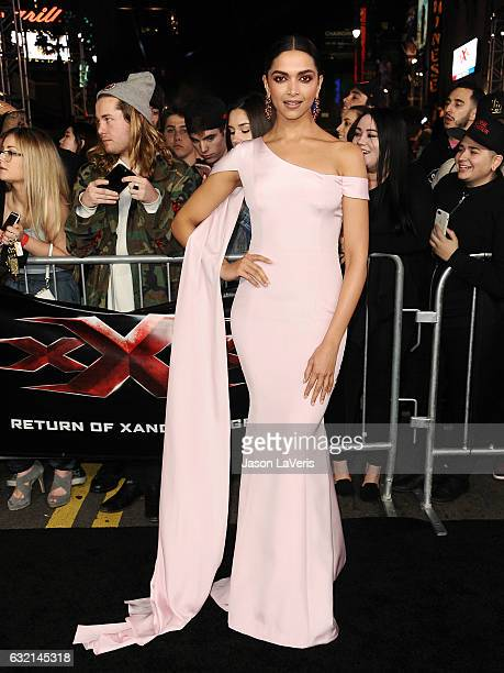 Actress Deepika Padukone attends the premiere of 'xXx Return of Xander Cage' at TCL Chinese Theatre IMAX on January 19 2017 in Hollywood California