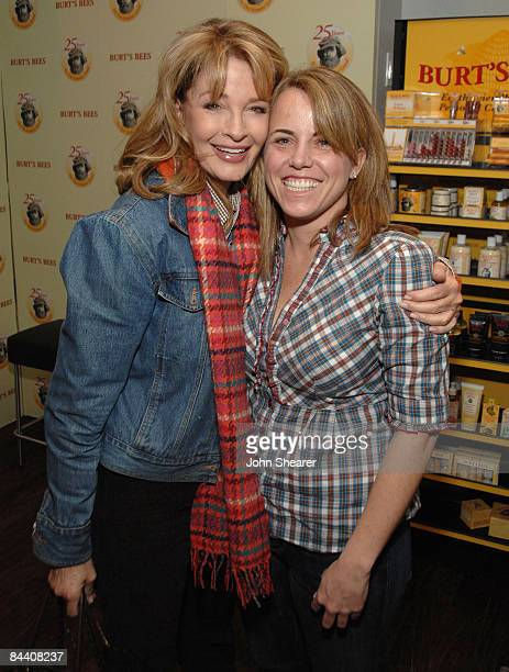 Actress Deidre Hall and guest at the Rock Band Lounge on January 17 2009 in Park City Utah