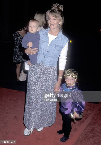 Actress Deidre Hall and sons Tully Sohmer and David Sohmer attend the 'Cinderella' Video Cassette and Album Release Party on October 2 1995 at Walt...