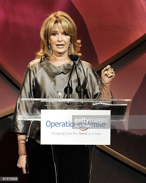 Actress Deidre Hall appears onstage at Operation Smile's 8th Annual Smile Gala at the Beverly Hilton Hotel on October 2 2009 in Beverly Hills...