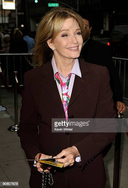 Actress Deidre Hall arrives at Overture Films' LA Premiere of 'Capitalism A Love Story' held at AMPAS Samuel Goldwyn Theater on September 15 2009 in...