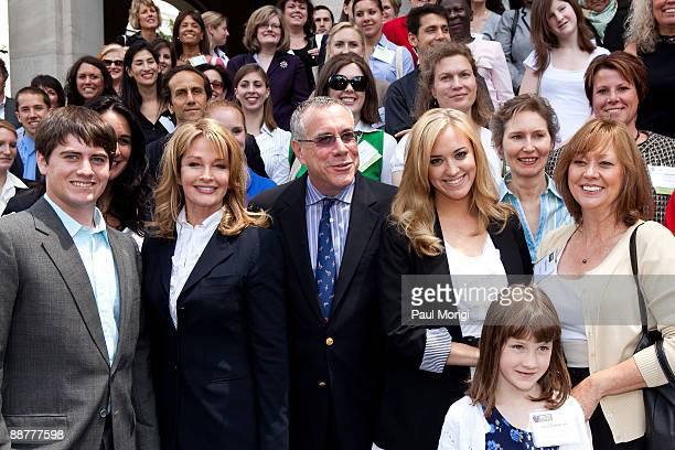 Actress Deidre Hall Hall and Andrea Bowen pose for a photo at a press conference regarding the Child Nutrition Promotion and School Lunch Protection...