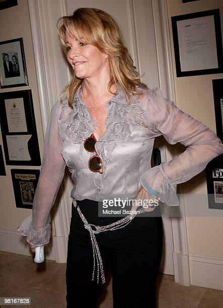 Actress Deidre Hall plays Just Dance by Ubisoft at the Silver Spoon Emmy suite at Maloof Estate on September 17 2009 in Beverly Hills California