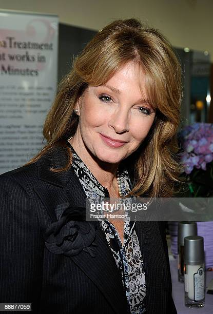 Actress Deidre Hall poses at the Adonia Orgainics stand at the On The Go Beauty Event In Honor Of Mother's Day at Gavert Atelier on May 9 2009 in...