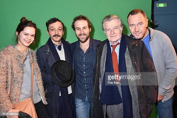 Actress Delia Espinat Dief director/actor Benoit Forgeard actors Antoine Gouy Philippe Laudenbach and Olivier Rabourdin attend 'Gaz de France'...